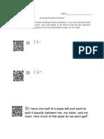 qr math sheet