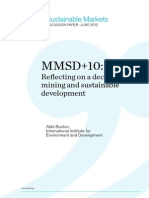 MMSD+10 Reflecting on a decade of mininf and sustainable development