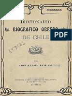 Diccionario Biográfico Obrero de Chile. (1912)