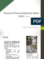 Examen de Funcionalidad Del Adulto Mayor