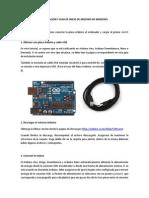 Instalación de Arduino en Windows