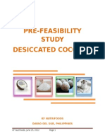 Prefeasibility Study on Desiccated Coconuts