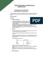 Especificaciones Técnicas Arquitectura Cipreces