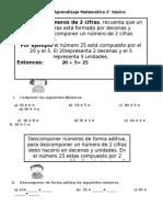 Guía de Aprendizaje Matemática 2 Descomposición y Composición de Números