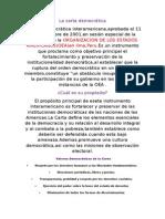 La Carta Democrática