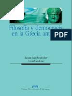 Filosofia y Democracia en La Grecia Antigua