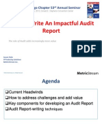 How to Write Impactful Audit Report