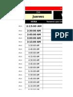 Jerson Schedule's Version 1