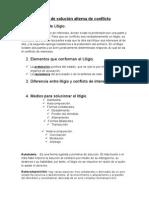 Litigio y medio de solución alterna de conflicto.docx