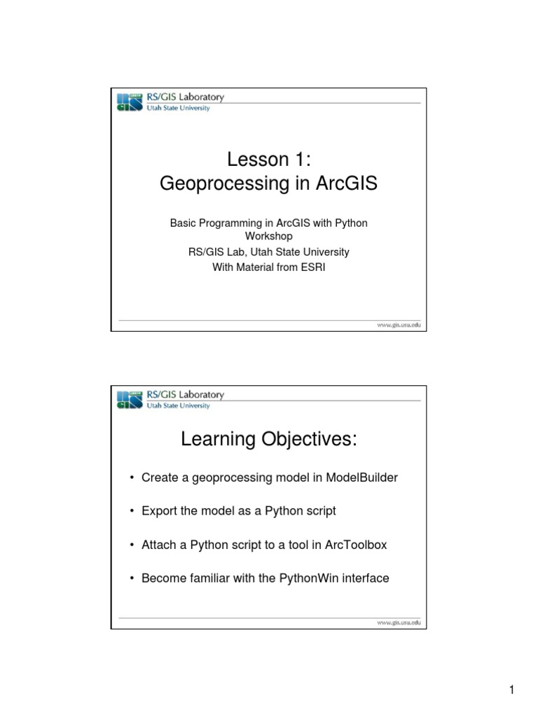Python ArcGIS PowerPoints and Activities | Arc Gis | Parameter