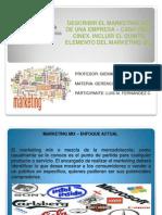 Marketing Mix y Su 5to Elemento CINEX. Gerencia de Mercadeo. Luis Fernandez