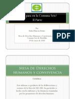 Informe público de la Mesa de DD. HH. y Convivencia