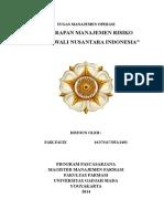 Penerapan Manajemen Risiko Di Rajawali Nusantara Indonesia [TUGAS UTS]