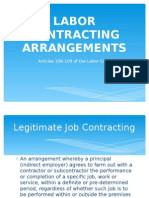 Labor Contracting Arrangements