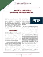Reglamento Servicio Social 01-NOV-06