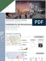 Expediente de Programacion Urbana La Victoria