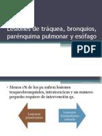 Lesiones de Tráquea, Bronquios, Parénquima Pulmonar