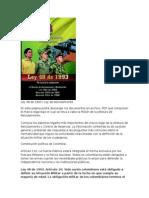 Ley 48 de 1993 Servicio Militar Universitarios