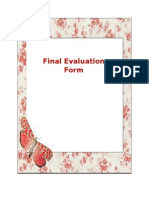 Final Evaluation Form