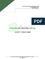 Cuenta de gestión - Directiva ANEIC 2009