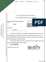 Sony BMG Music Entertainment et al v. Doe - Document No. 7