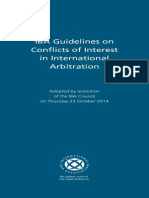 2014 IBA Guidelines on Conflict of Interest in International Arbitration (with Explanations)