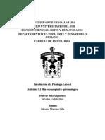 Marco Conceptual y Epistemológico de La Psicologia Laboral
