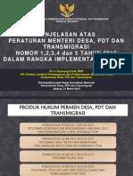 PAPARAN SOSIALISASI PERMENDESA 1-5 2015.pdf