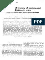1978 Loe - The Natural History of Periodontal Disease in Man