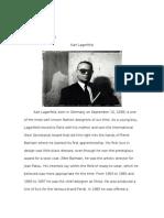 designer report 3 - karl lagerfeld