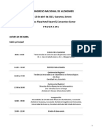 Programa XX Congreso Alzheimer