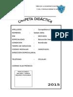 Carpeta Didactica 2015- Bueno