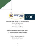 Arquitectura Islamica y su influencia En Costa Rica.docx