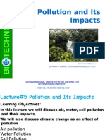 Lecture 5 Pollution and Its Impacts