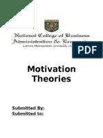 Motivation Theories Munir.docx