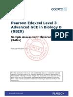 PearsonEdexcel Alevel BiologyB DraftSAMS Sept14