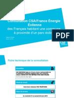 Sondage exclusif CSA démontre la large acceptation des éoliennes par les Français habitant à proximité