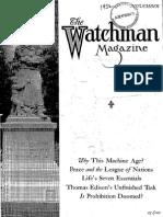 Watchman Magazine (November 1932)
