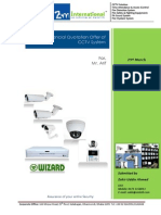 CCTV System Quotation Price Offer for Institute of Mr. Arif