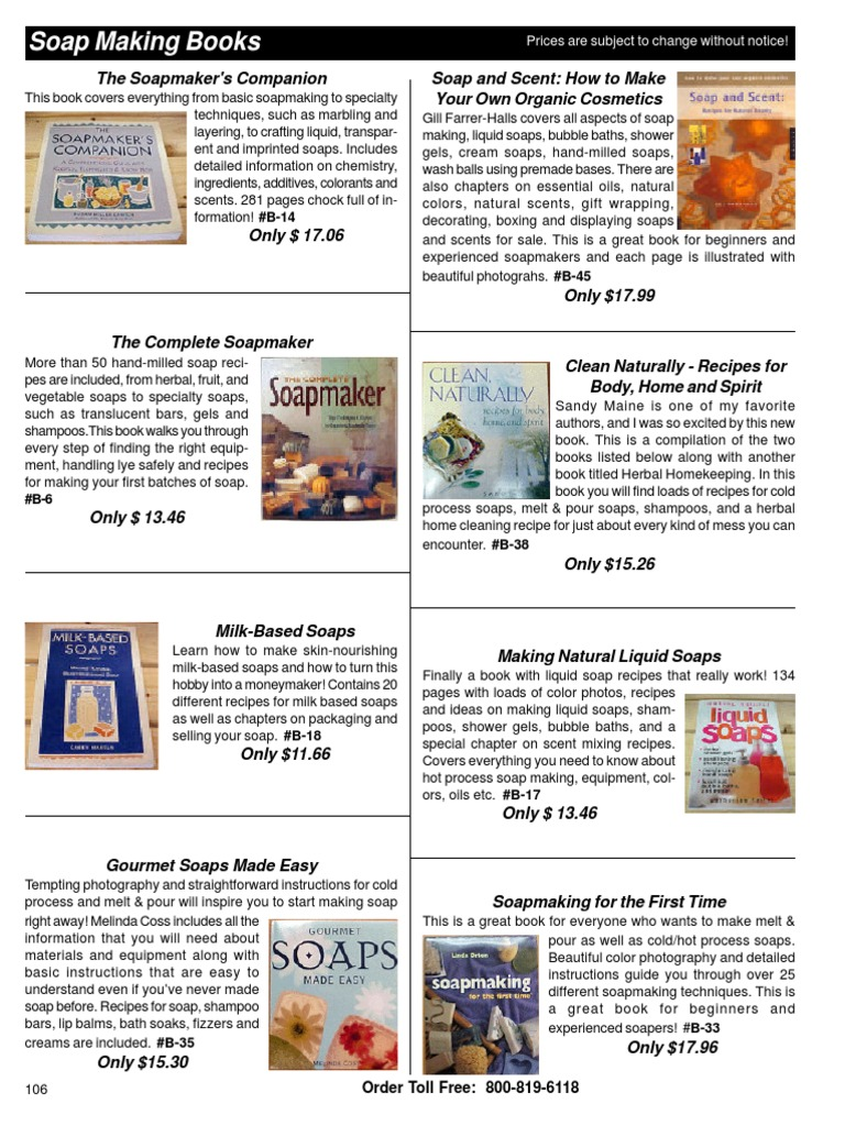 Soap Making Books | Soap | Shampoo