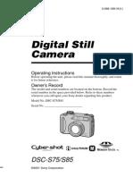 Sony Digital Makine Manuel DSCS85