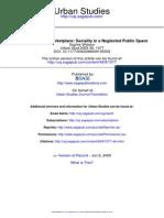 Watson Sociality Public Market UrbanStudies2009