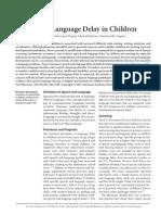 Speech and Language Delay