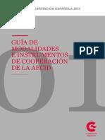 Guia de Modalidades e Instrumentos de Cooperación de la AECID
