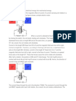 explaination of working of an electric motor.