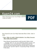 How Kaam24.Com Can Help Generate Blue Collar Jobs in India