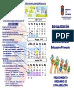 Triptico Esc Ordinario Para Infantil y Primaria 2015 2016