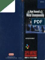 Nigel Mansells World Championship Racing - AU Manual - SNS