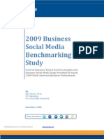 2009 Business Social Media Benchmarking Study