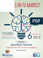 Cartel Asamblea Albayda